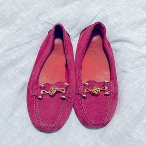 Tory Burch Magenta loafers